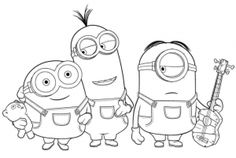 25 Printable Minions Activity/Coloring Pages
