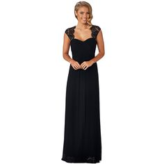 Monet Black Bridesmaid Dress | fashjourney.com