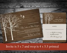 Winter Wedding Invitations Country Winter by NotedOccasions, $37.50