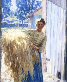 Helen McNicoll, The Gleaner, c. 1908, oil on canvas, 76.3 x 63.8 cm, private collection. #ArtCanInstitute #CanadianArt