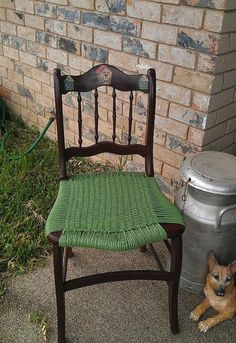beat up old chair turned functionally pretty
