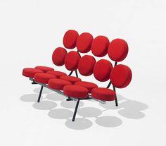 Histoire de design: canapé marshmallow par Georges Nelson 1956