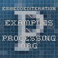 embeddediteration examples processingorg