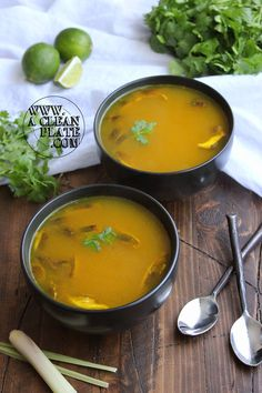 This soup is packed full of sinus-clearing spices and healthy vitamin C, making it far superior to the traditional chicken-noodle when it comes to soothing a cold. Related