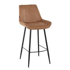 Brooke is an industrial-style, robust bar stool that will be the perfect addition to your kitchen island or bar table! Thanks to the vertical stitching on the seat, this bar stool is a real eye-catcher. The bar stool Brooke is stylish and suitable for every interior! Industrial Bar Stools, Industrial Style, Chair, Interior, Table, Furniture, Catcher, Home Decor, Kitchen Island