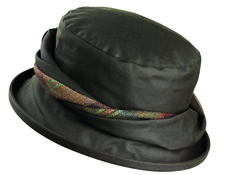 Emma twist wax hat Olive . . Sold by TartanPlusTweed.com A family owned kilt and gift shop in the Scottish Borders