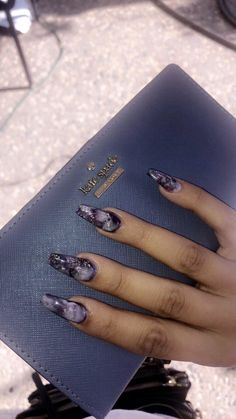 How to choose your fake nails? - My Nails Gorgeous Nails, Love Nails, How To Do Nails, My Nails, Marble Nail Designs, Marble Nail Art, Pointy Nails, Nail Inspo, Nails On Fleek