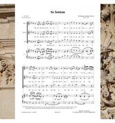 Wolgang-Amadeus MOZART- Se lontan - Nocturnes à 3 voix mixtes (SAH) - Editions Musiques en Flandres - référence : MeF 304
