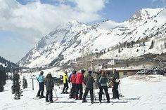 alta  ski with a ranger for Scott