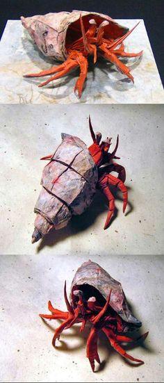 Amazing origami crabs