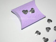 50 Embossed lilac and silver pillow box wedding by cherrywhistle