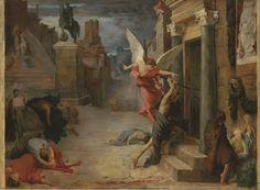 Jules-Élie Delaunay - Peste à Rome (1869)