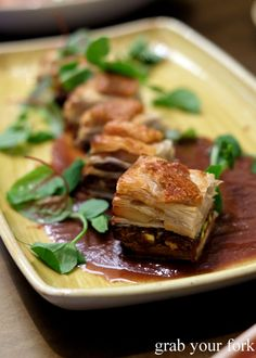 Pork belly baklava at 1821 Greek restaurant in Sydney