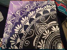 Ombré Henna Inspired Canvas