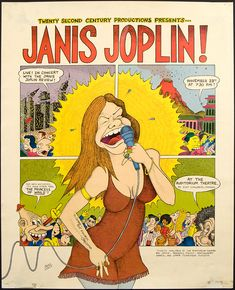 Although this 1970 poster refers to the Janis Joplin Revue.Janis rolled into… Janis Joplin, Rock Posters, Concert Posters, Music Posters, Band Posters, Blues Rock, Caricatures, Chicago Concerts, Jimi Hendrix