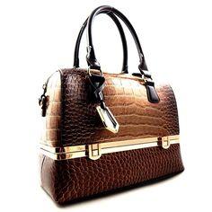 Alligator Compartment Boston Handbag Wholesale Handbags e5bc2d2fd9a06