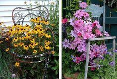 22 Cool Chair planter ideas for Home and Garden | Balcony Garden Web