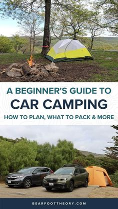 Plan an epic car camping trip with this complete beginner guide including tips for finding campsites, gear, cooking, what to pack, and more. Camping 101, Camping Packing, Camping Outfits, Winter Camping, Packing Lists, Camping Ideas, Road Trip Essentials, Road Trip Hacks, Go Car