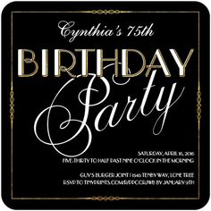 Image result for classy looking birthday invitations