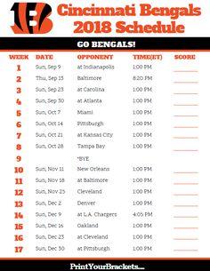 Printable Denver Broncos Schedule 2019 Season