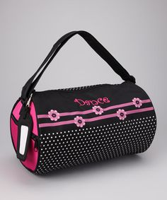 Take a look at this Pink Flower 'Dance' Duffel Bag by Sassi Designs on #zulily today!