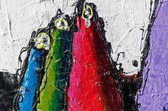 DETAILS FROM MY PAINTINGS !  Volcano I  My website: http://artbylonfeldt.dk/en  #art #paintings #artbylonfeldt