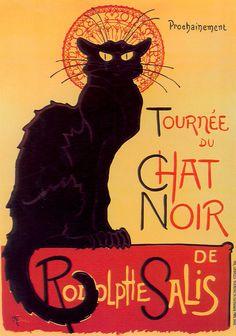 """"""" Le Chat Noir"""" by Théophile-Alexandre Steinlen"""
