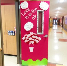 "My classroom Valentines Day Door! ""Love is in the air"""