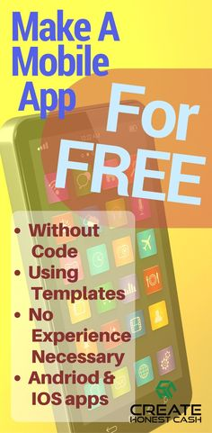 How to make your own mobile app. I'll show you how with an easy to use template-based resource for making just about any sort of Android or IOS app you like How To Make App, How To Create Apps, Create Your Own App, Android Web, Android App Design, Ios Apple, Apple Apps, Make A Mobile, Mobile App