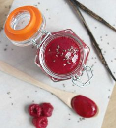Raspberry and Vanilla Chia Jam