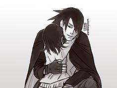 Sasuke and his daughter Sarada