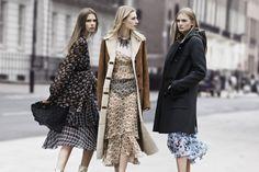 Zara Campaign FW 2013-2014 /// Tecidos Focus: Hi Multi Chiffon Printed; Transparência Flow Printed; Pele Suede Rabbit #TRANSPARENCIAS #PELES #florais #geometricos