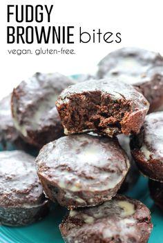 Fudgy Gluten-Free Vegan Brownie Bites