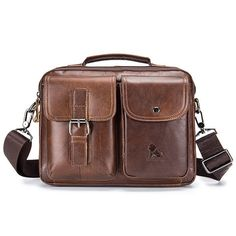 7324d7633eef US$ 47.43 - Vintage Genuine Leather Crossbody Bag Handbag For Men Кожаный  Портфель, Кожаные