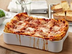 Tyler Florence dubbed this dish the Ultimate Lasagna for good reason: it's built in three generous layers of lasagna noodles, ricotta cheese and savory Bolognese sauce.