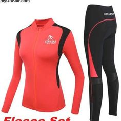 Women's Winter Cycling Clothing Jersey Pants Set Winter Cycling Gear, Winter Cycling Clothing, Snowboarding Outfit, Cycling Outfit, Wetsuit, Workouts, Swimwear, Pants, Outfits