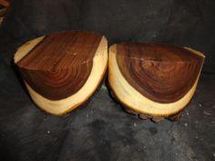 "Natural Edge Black Walnut Turning Wood Bowl Blank Lathe 6 x 3 1/2"" thick 2 pc. by treekiller20, ebay"