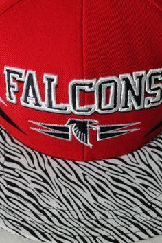 Atlanta Falcons Customized Snapback  Hat with Zebra Brim Men's Streetwear Dope Swag