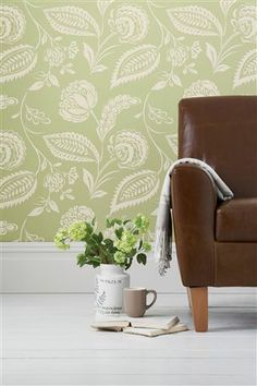 Buy Smart Artisan Floral Green Wallpaper from the Next UK online shop