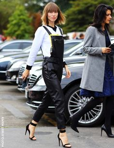 Leather Overalls...LOVE!!!!