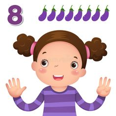 Learn number and counting with kida€?s hand showing the number e. Kids learning , #Sponsored, #counting, #kid, #Learn, #number, #hand #ad