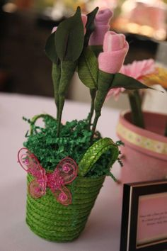 Give mom-to-be a flower bouquet that she can enjoy for as long as she likes and then once she is done she can disassemble and use the baby socks for her new little one.