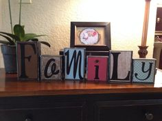Decorative Block Letters / Home Decor / Wood Block Letters / Family  / Decorative Letters on Etsy, $30.00