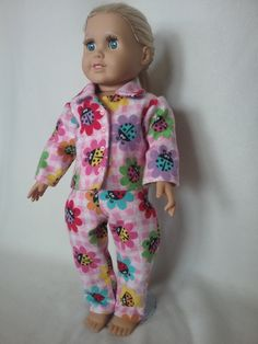 """Ladybug PJ's fit 18"""" Dolls, American Girl Doll Pajamas Handmade by SBCreationsfromHeart on Etsy"""
