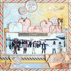 Loving Life - Kaisercraft: Now Boarding - by Kaori Fujimoto. Layering tags