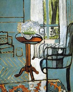 "expressionism-art: "" The Window via Henri Matisse Size: 146.1x116.8 cm Medium: oil on canvas"""