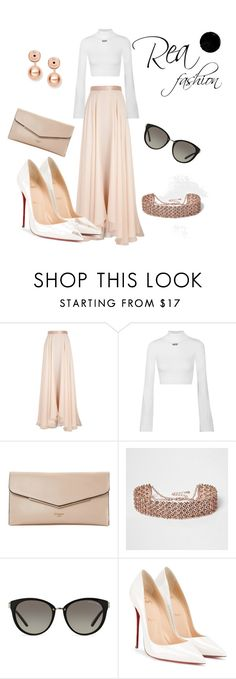 """Untitled #2"" by rea-fashion on Polyvore featuring Lanvin, Off-White, Dune, River Island, Michael Kors, Christian Louboutin and FOSSIL"