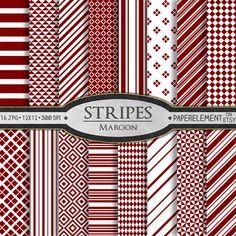 Red Stripe Digital Paper Stripes: Vertical, Nautical, Diagonal, Horizontal Striped Paper - Lipstick Red and White Printable Stripe Backdrops Digital Scrapbook Paper, Printable Scrapbook Paper, Printable Paper, Simple Geometric Pattern, Paper Background, Red Stripes, Diamond Pattern, Pattern Paper, Clipart