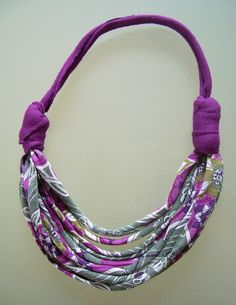 fabric necklace african style