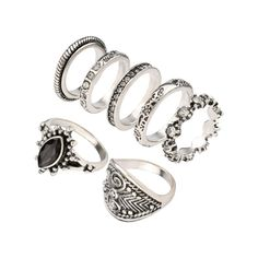 Vintage Rhinestone Engraved Ring Set Silver ($4.11) ❤ liked on Polyvore featuring jewelry, rings, engraved jewelry, vintage rhinestone jewelry, vintage rings, engraved silver jewelry and set rings